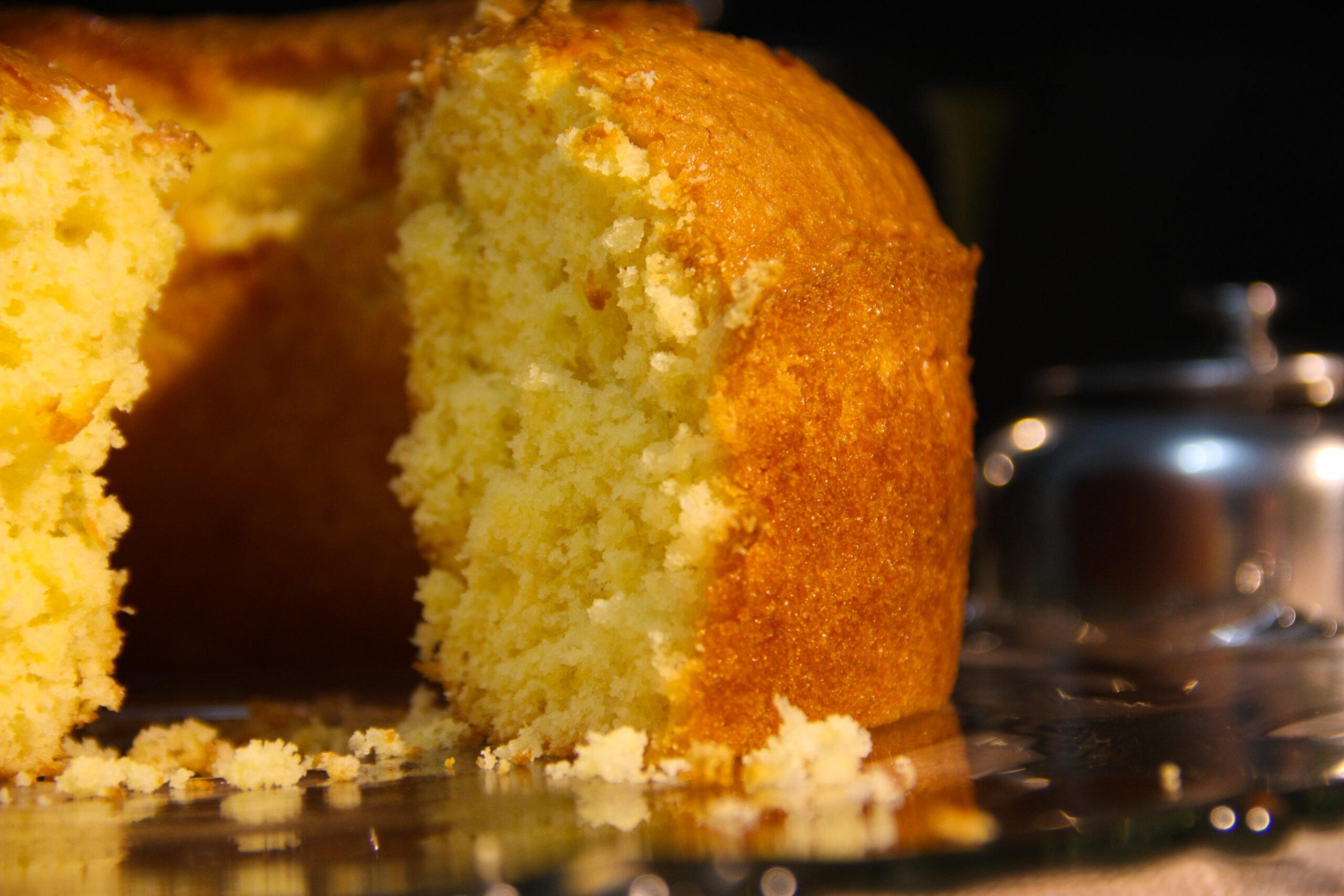 bolo caseiro de laranja